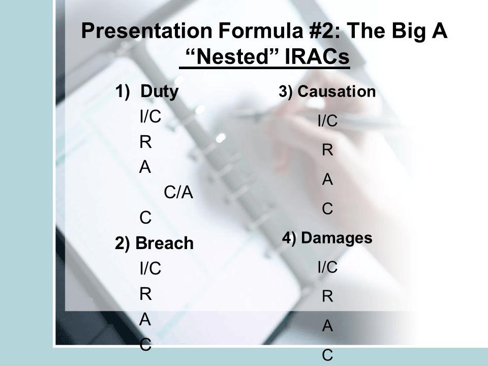 Presentation Formula #2: The Big A Nested IRACs