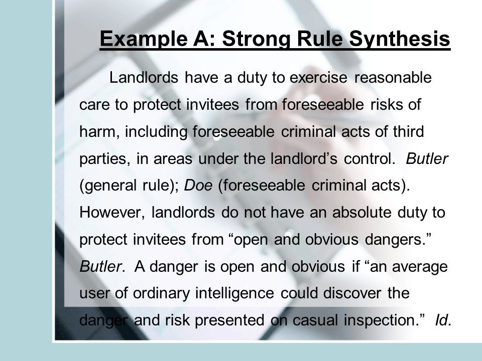 Example A: Strong Rule Synthesis