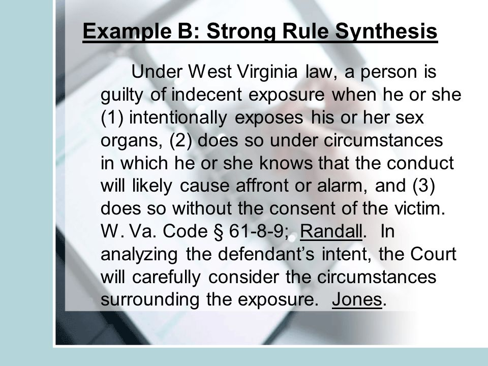 Example B: Strong Rule Synthesis