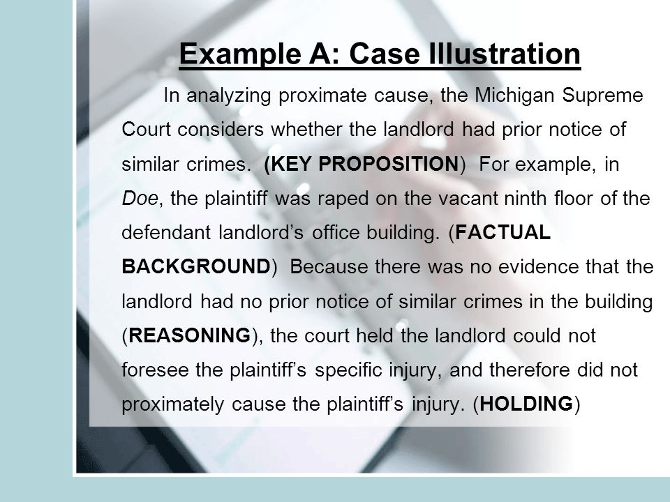Example A: Case Illustration