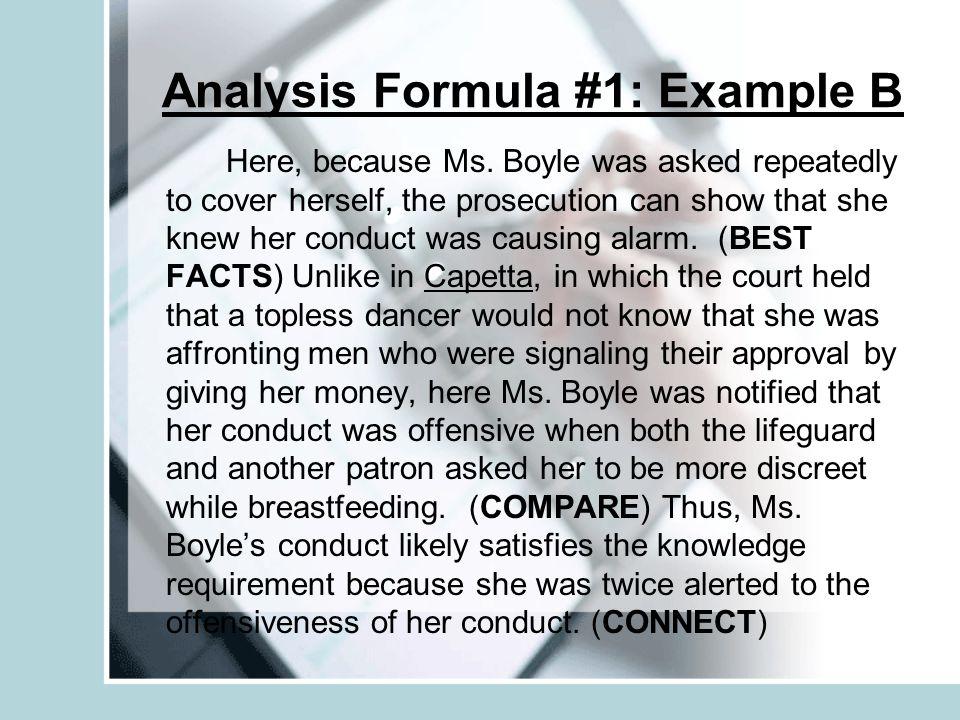 Analysis Formula #1: Example B