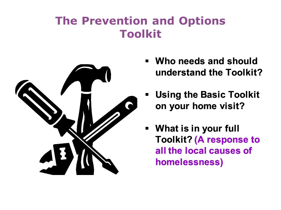 The Prevention and Options Toolkit