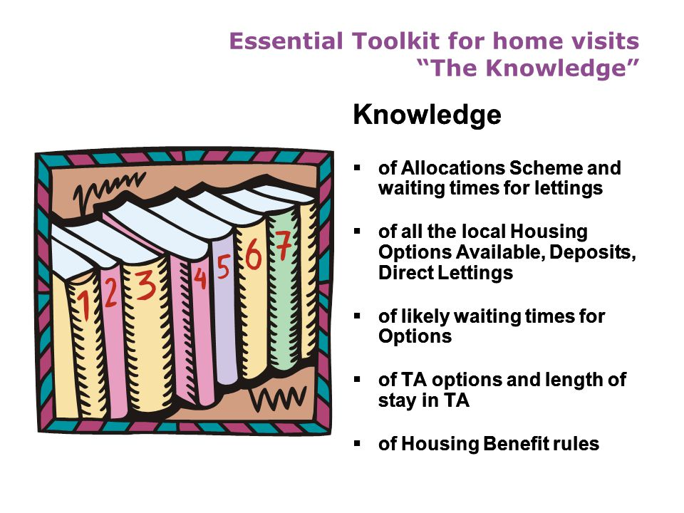 Essential Toolkit for home visits The Knowledge