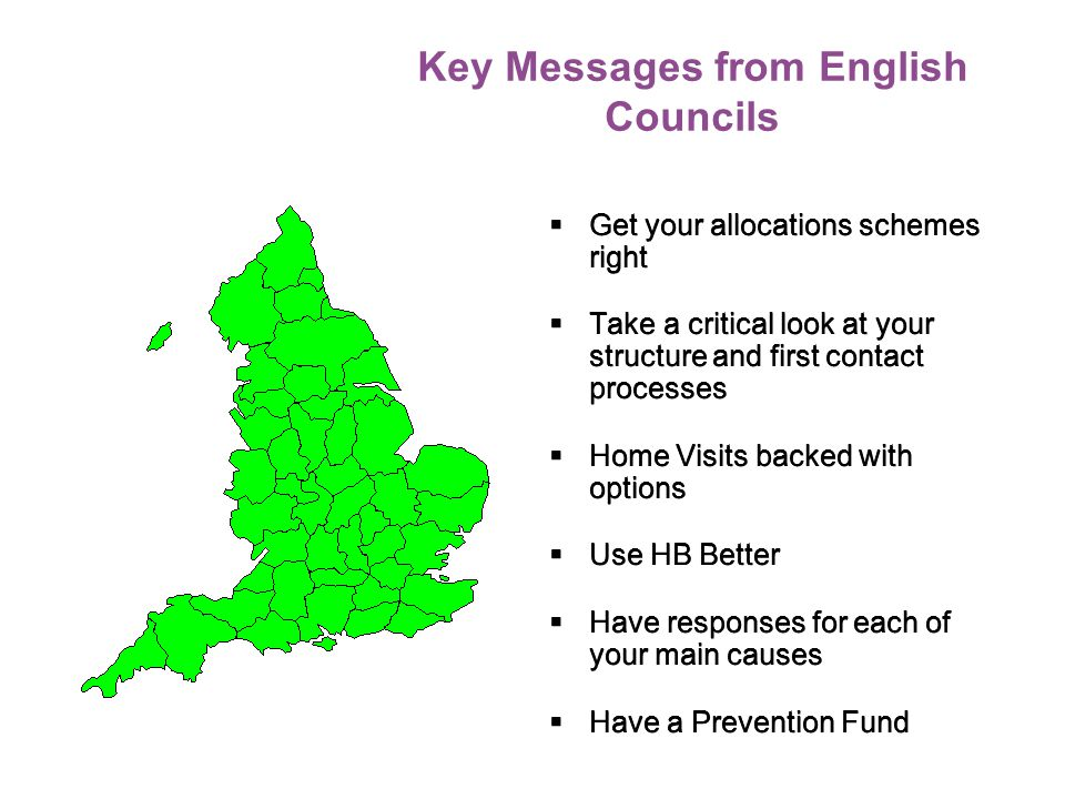 Key Messages from English Councils