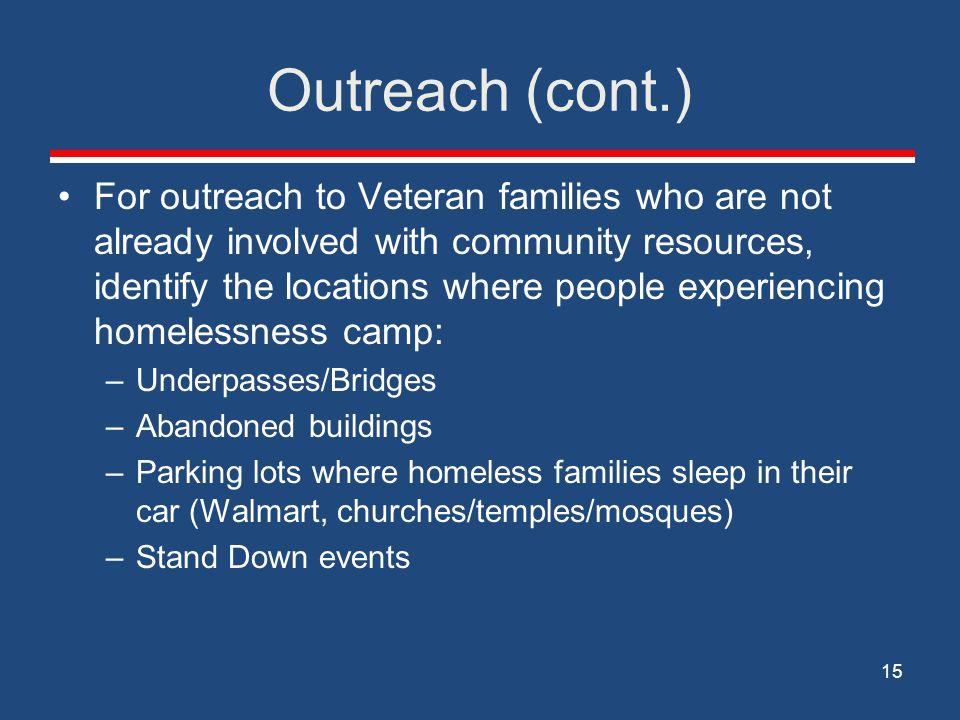 Outreach (cont.)