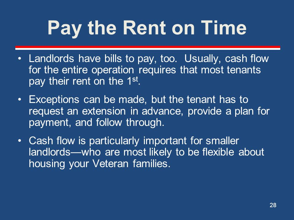 Pay the Rent on Time