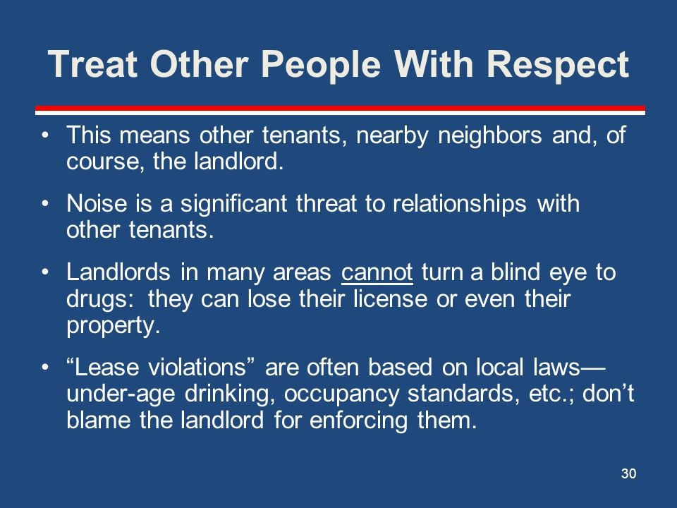 Treat Other People With Respect