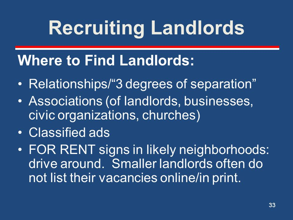 Recruiting Landlords Where to Find Landlords: