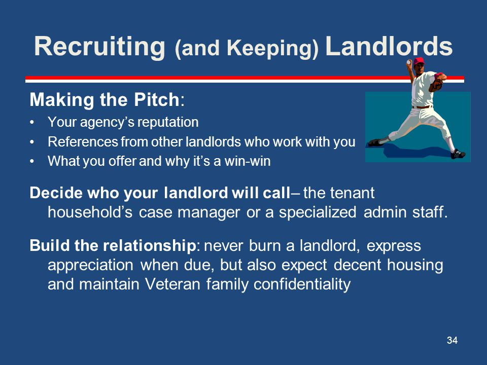 Recruiting (and Keeping) Landlords