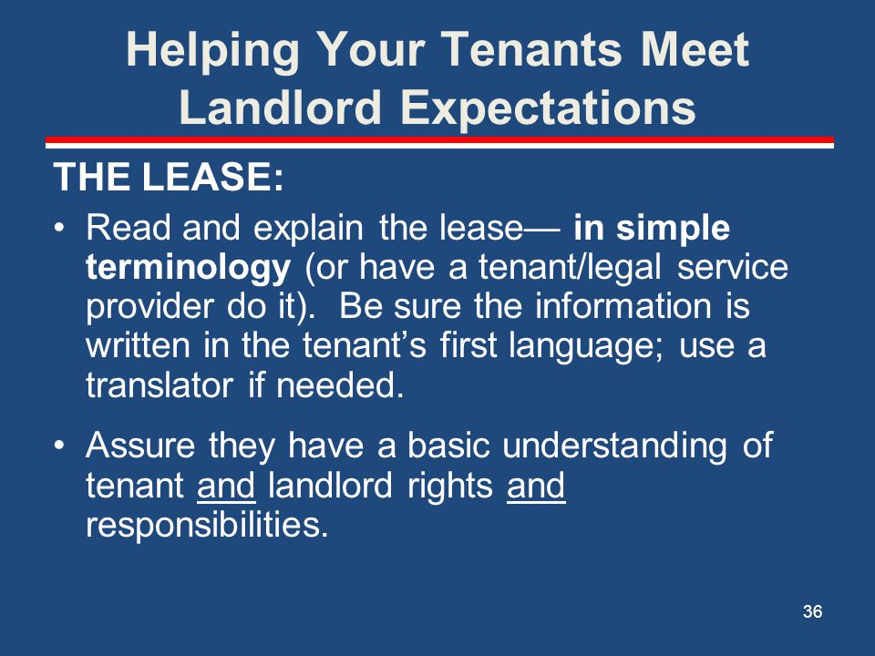 Helping Your Tenants Meet Landlord Expectations
