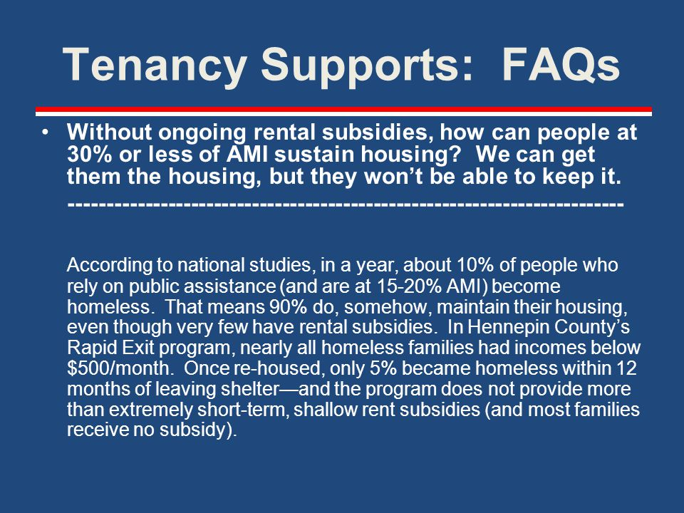 Tenancy Supports: FAQs