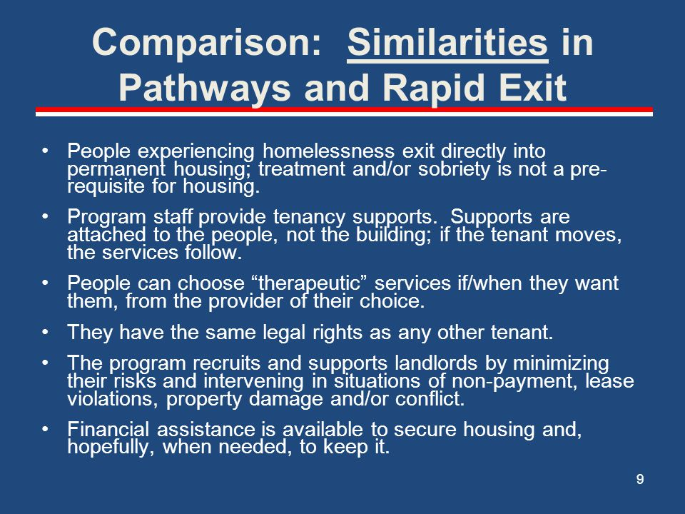 Comparison: Similarities in Pathways and Rapid Exit