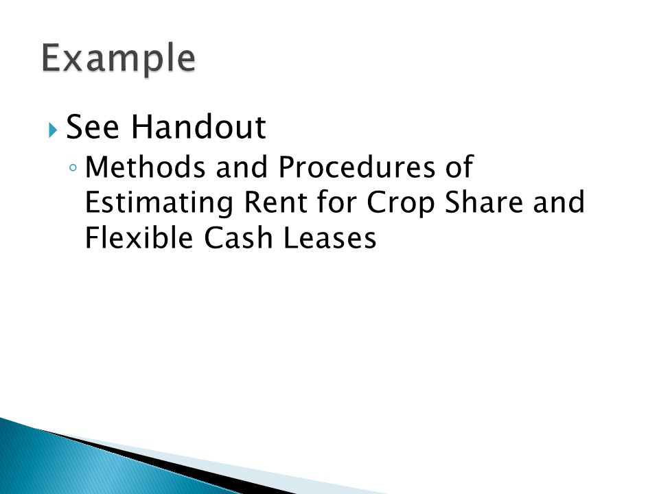 Example See Handout.