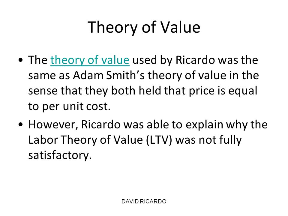 Theory of Value