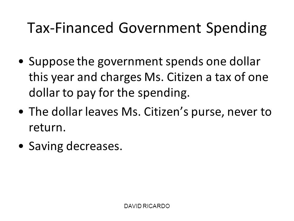Tax-Financed Government Spending