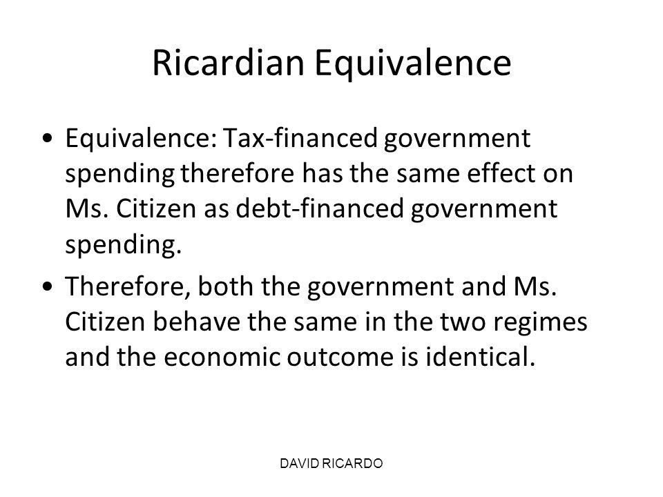 Ricardian Equivalence
