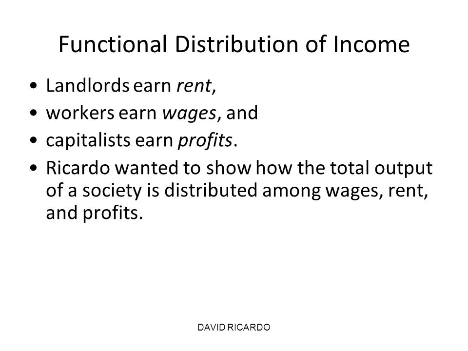 Functional Distribution of Income