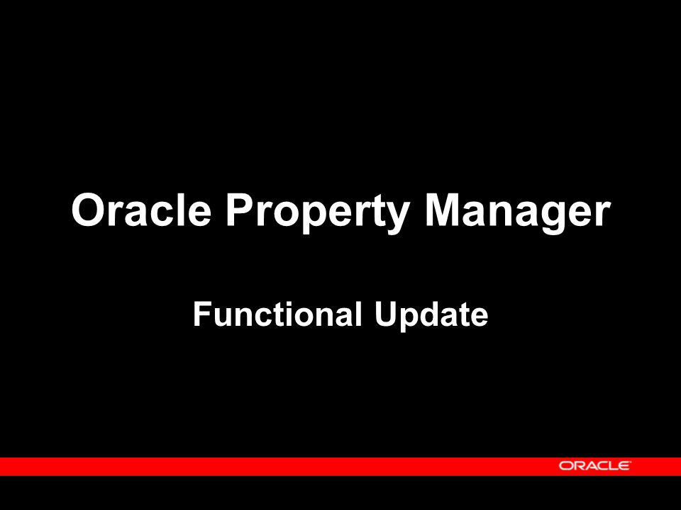 Oracle Property Manager