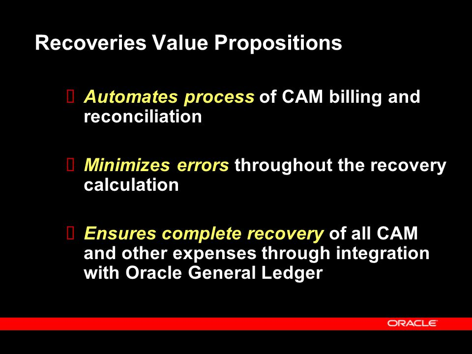 Recoveries Value Propositions