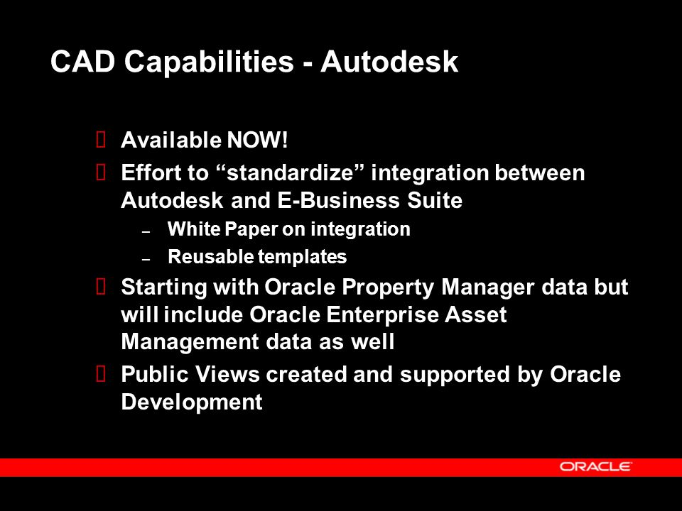 CAD Capabilities - Autodesk