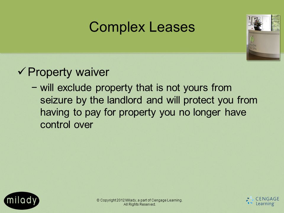 Complex Leases Property waiver
