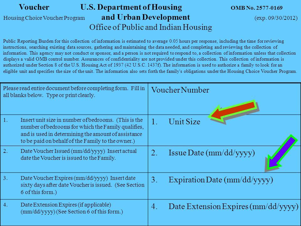 Voucher U.S. Department of Housing OMB No. 2577-0169