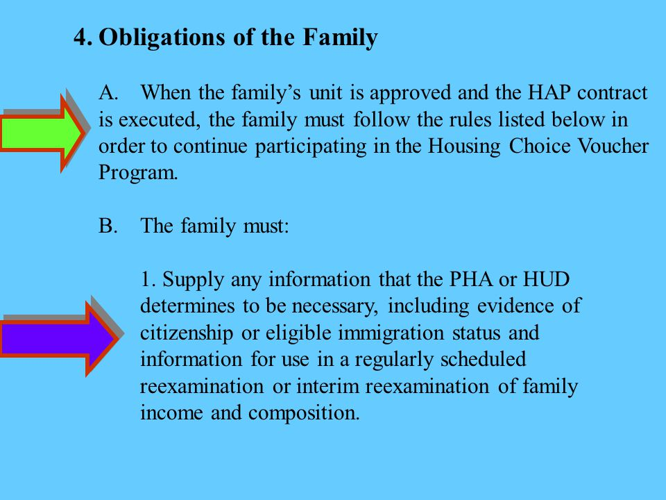 4. Obligations of the Family