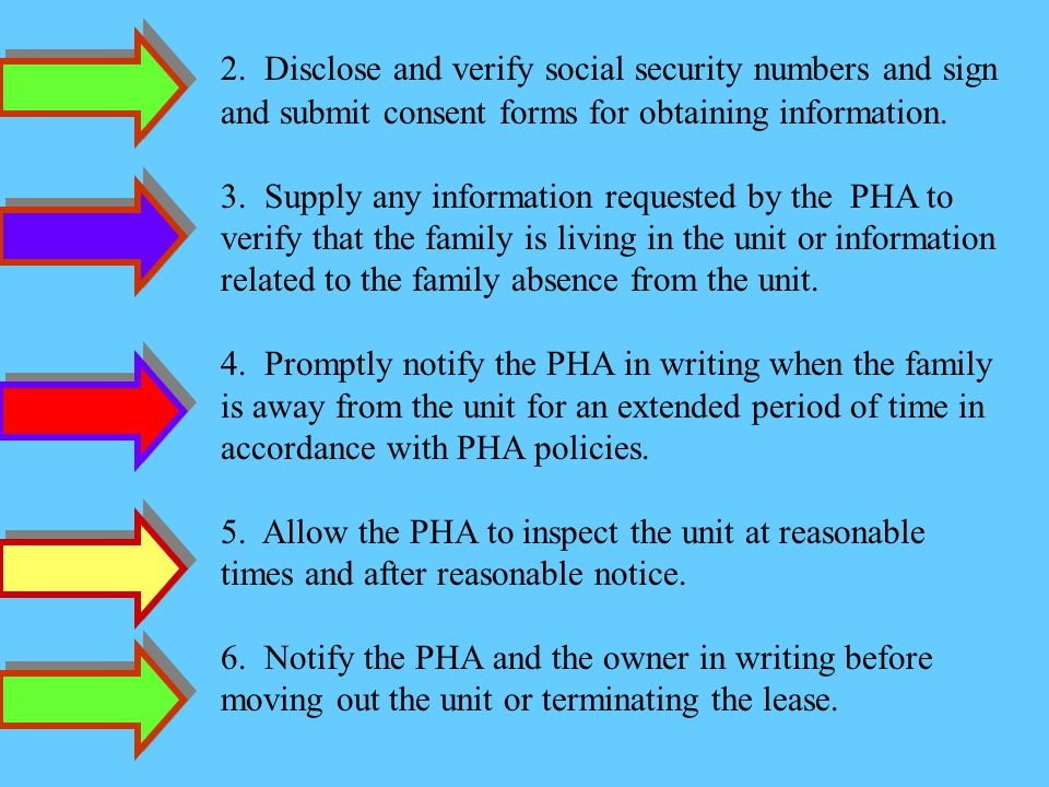 2. Disclose and verify social security numbers and sign