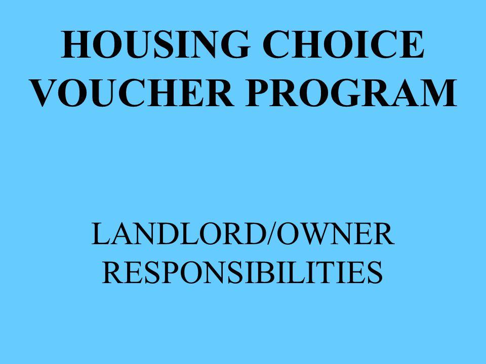 LANDLORD/OWNER RESPONSIBILITIES