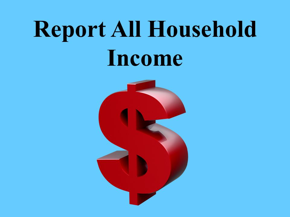Report All Household Income