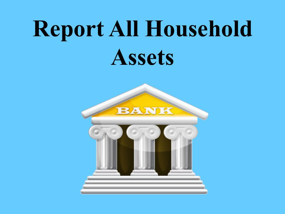 Report All Household Assets