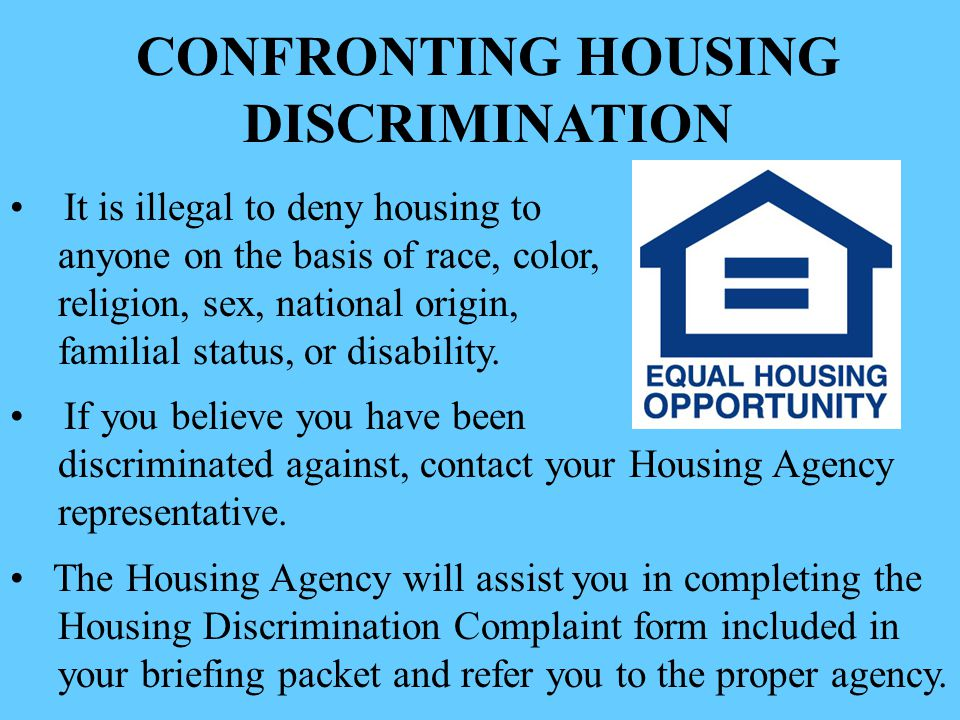 CONFRONTING HOUSING DISCRIMINATION