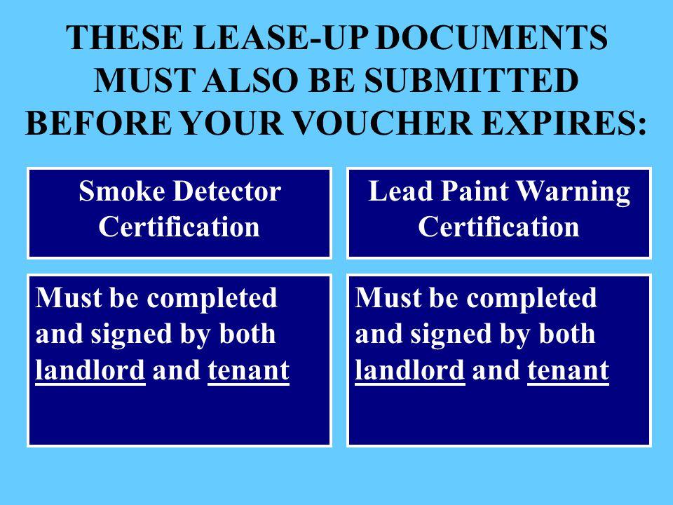 Smoke Detector Certification Lead Paint Warning Certification