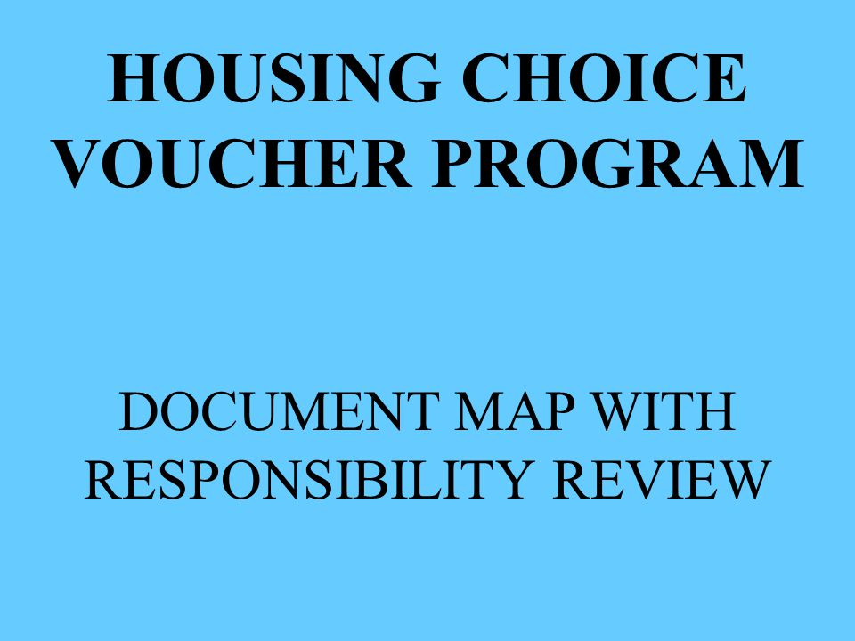 RESPONSIBILITY REVIEW