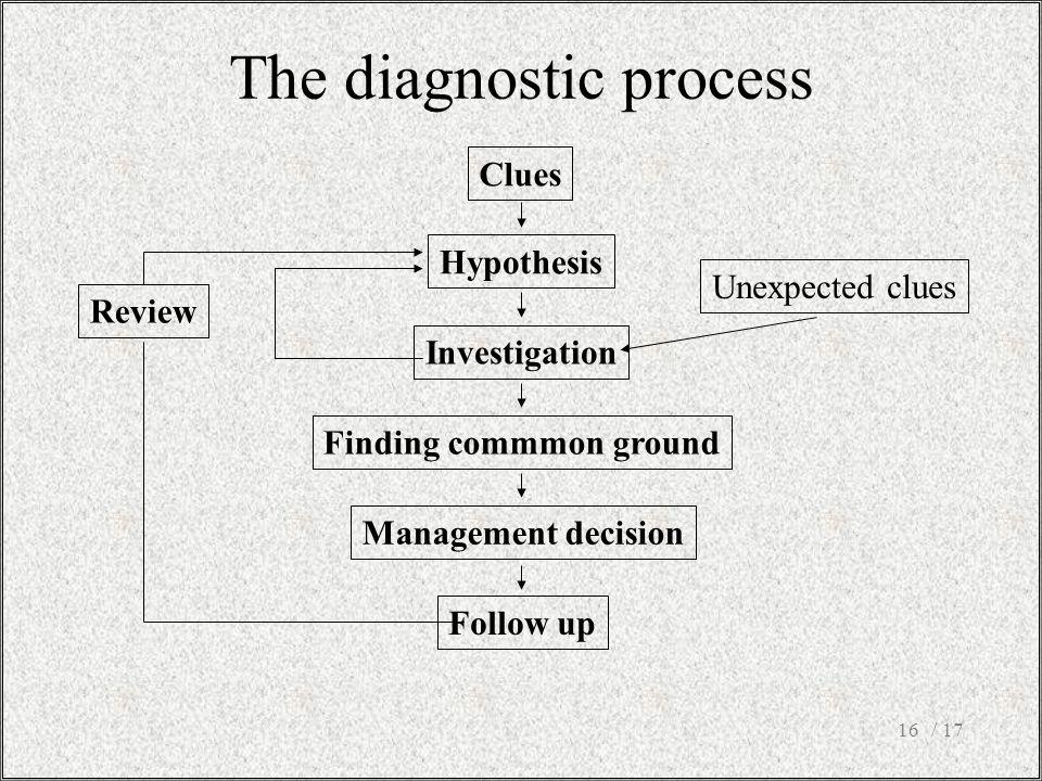 The diagnostic process