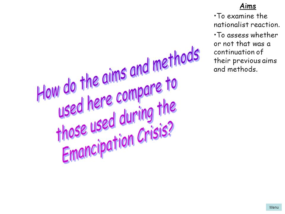 How do the aims and methods