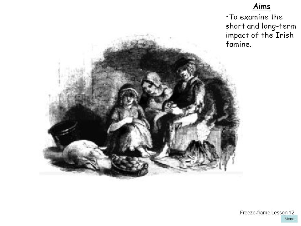 To examine the short and long-term impact of the Irish famine.