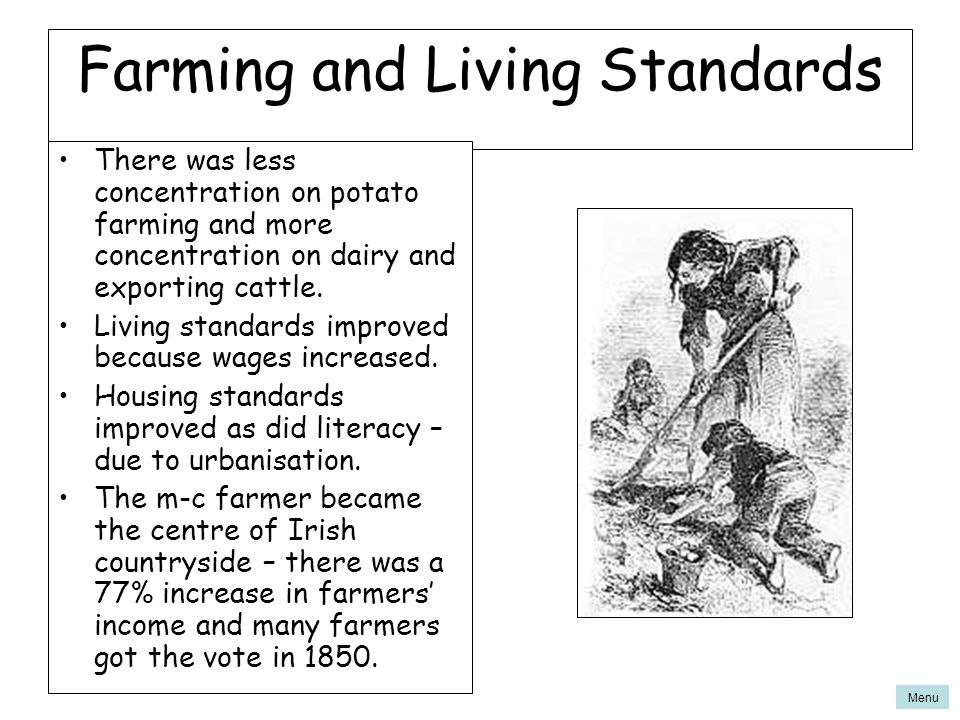 Farming and Living Standards