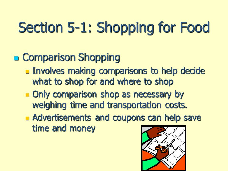 Section 5-1: Shopping for Food