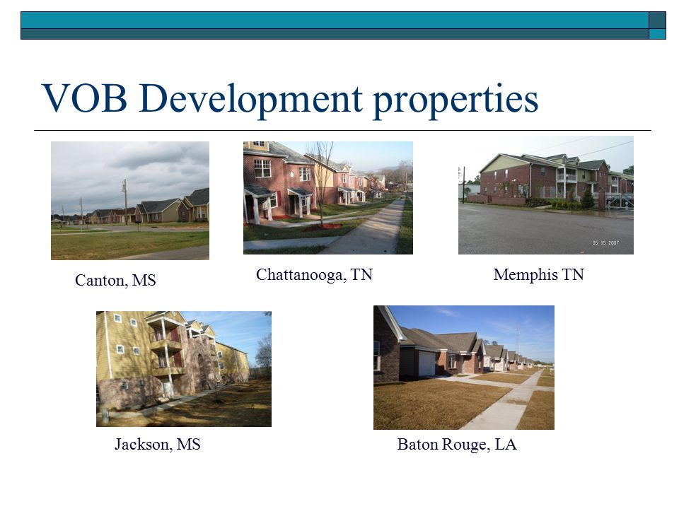 VOB Development properties
