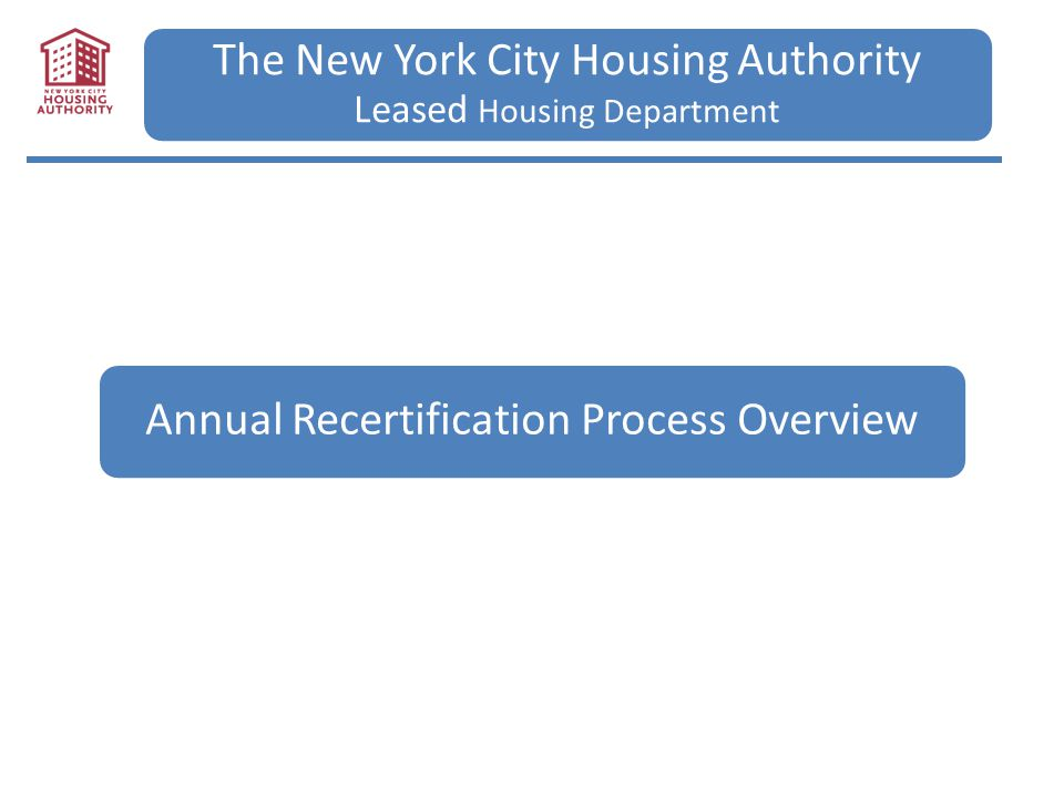 The New York City Housing Authority Leased Housing Department ...