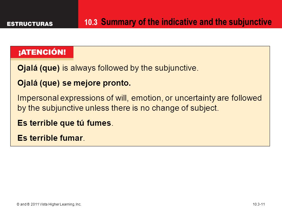 Ojalá (que) is always followed by the subjunctive.