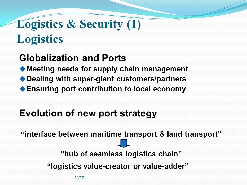 Logistics & Security (1) Logistics