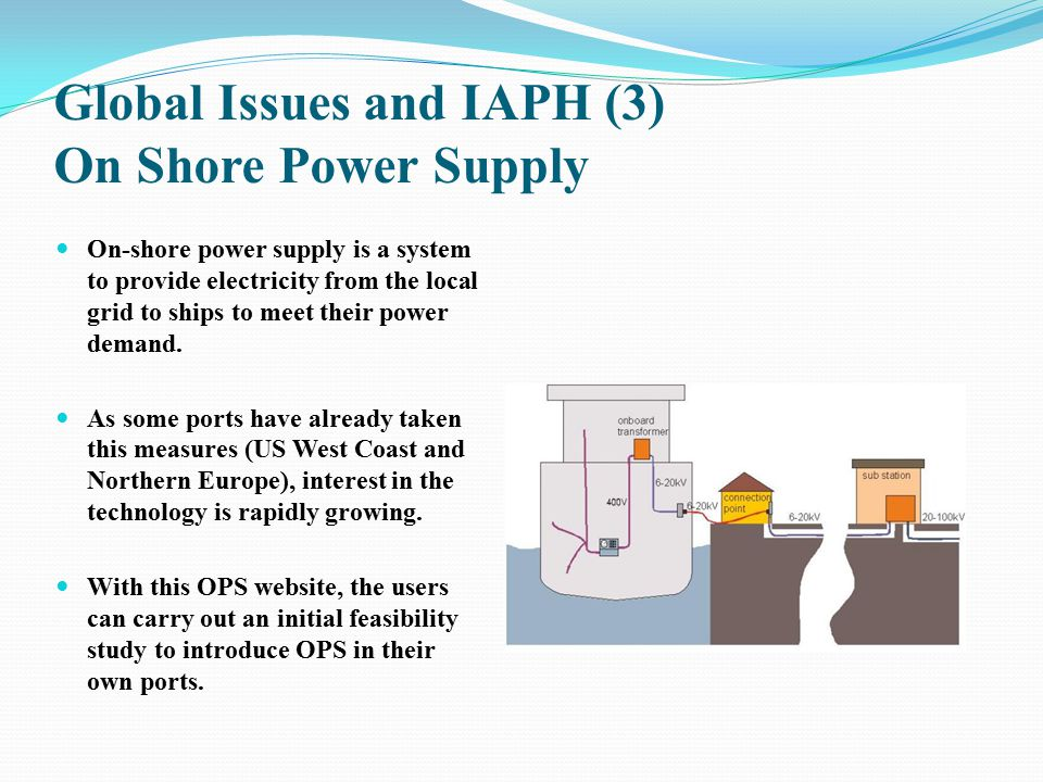 Global Issues and IAPH (3) On Shore Power Supply