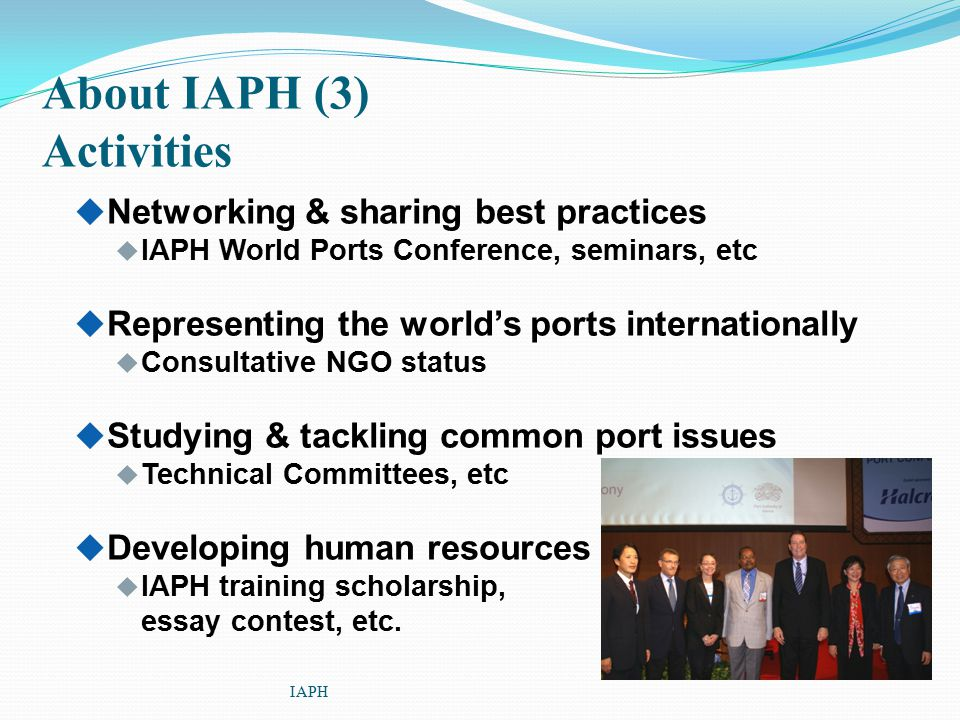 About IAPH (3) Activities