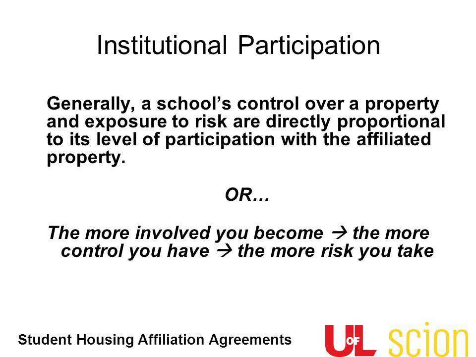 Institutional Participation