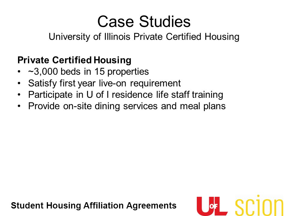 Case Studies University of Illinois Private Certified Housing
