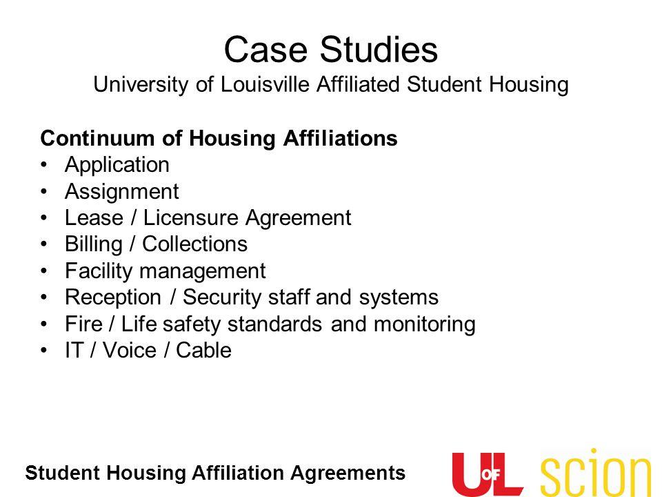 Case Studies University of Louisville Affiliated Student Housing