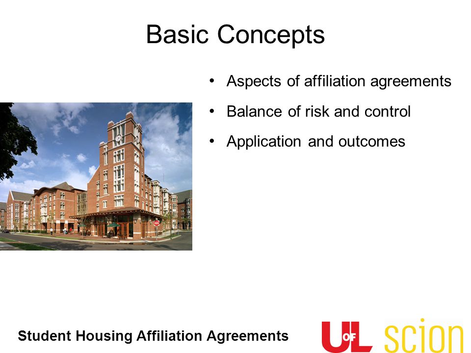 Basic Concepts Aspects of affiliation agreements