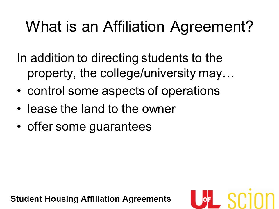 What is an Affiliation Agreement